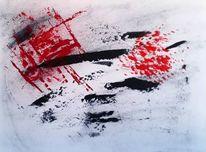Pandemie, Menschheit, Malerei, Rot
