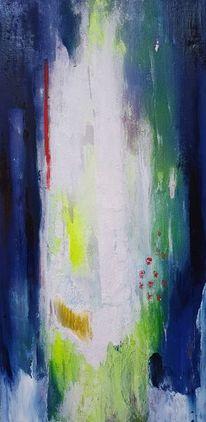 Abstrakt, Blau, Weiß, Avalon