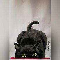 Tiere, Katze, Haustier, Malerei