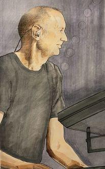 Stimmung, Keyboarder, Portrait, Freude