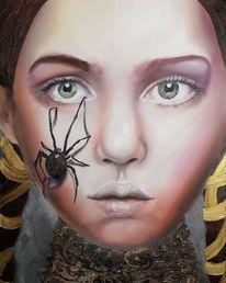 Portrait, Angst, Phobie, Spinne