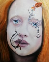 Poesie, Expressionismus, Portrait, Malerei