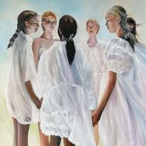 Mädchen, Zeit, Midsommar, Skandinavien
