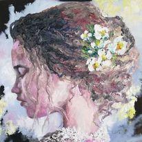 Vintage, Ölmalerei, Malerei, Portrait