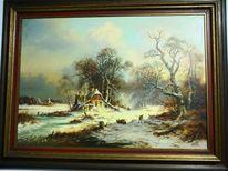 Schnee, Landschaft, Winter, Pinnwand