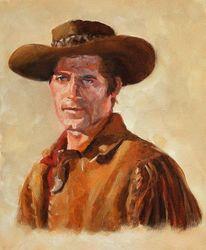 Western, Menschen, Portrait, Ölmalerei