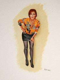 Menschen, High heels, Frau, Portrait