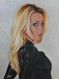 Ölmalerei, Portrait, Frau, Malerei