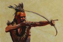 Indianer, Pawnee, Ölmalerei, Western art