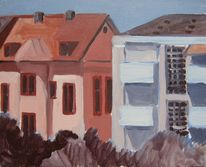 Ölmalerei, Landschaft, Englischrot, Farben