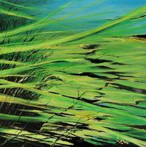 Acrylmalerei, Alge, Unterwasserwelten, Wasserpflanzen