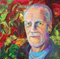 Portrait, Mann, Acrylmalerei, Malerei