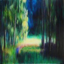 Natur, Acrylmalerei, Wald, Baum