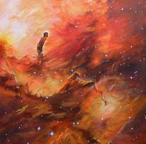 Universum, Galaxie, Weltall, Rot