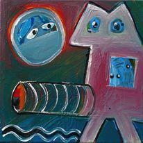 Farben, Malerei, Figur, Abstrakt