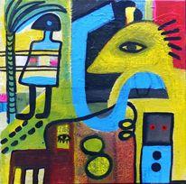 Figur, Farben, Malerei, Fantasie