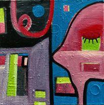 Malerei, Figur, Abstrakt, Farben