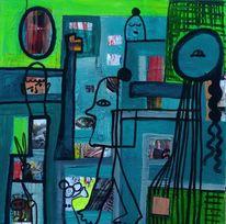 Malerei, Farben, Fantasie, Collage