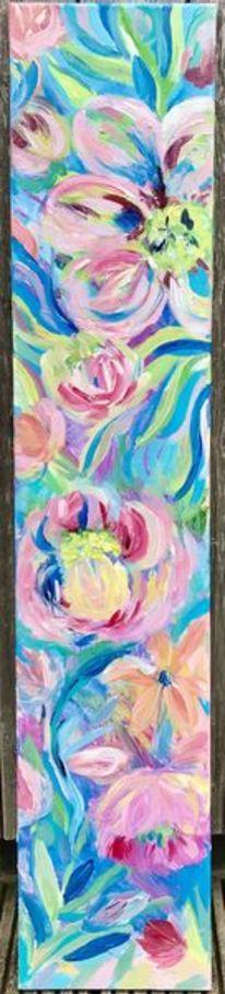 Abstrakt, Blumen, Acrylmalerei, Modern art