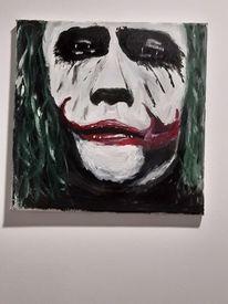 Portrait, Acrylmalerei, Joker, Malerei
