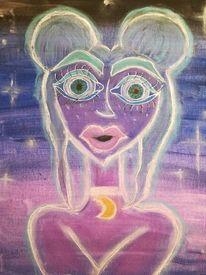 Abstrakt, Farben, Acrylmalerei, Mischtechnik