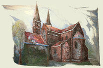 Haus, Kirche, Dom, Farben