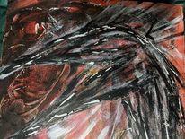 Vogel, Ausschnitt, Holz, Malerei