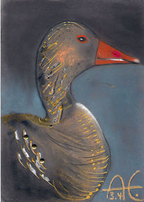 Malerei, Vogel, Tiere