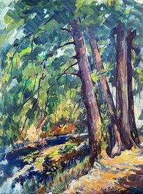 Landschaft10, Landschaft, Malerei,