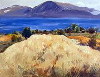 Ohridsee, Albanien, Landschaft, Malerei