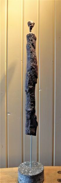 Suche, Hommage, Giacometti, Holz