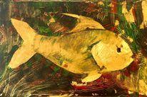 Acrylmalerei, Fisch, Meeresflora, Malerei