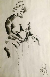 Pastellmalerei, Schwarz, Pult, Zeichnungen