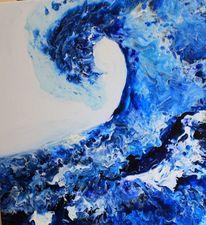 Abstrakt, Artdeco, Acrylgießtechnik, Malerei
