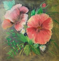 Ölmalerei, Blumen, Malerei,