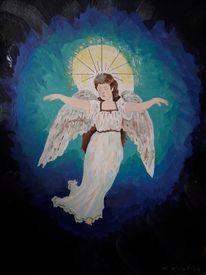 Schutz, Weltall, Engel, Malerei