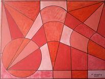 Rot, Formen, Geometrisch, Malerei