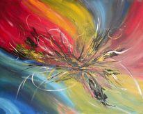 Acrylmalerei, Abstrakt, Spachteltechnik, Malerei