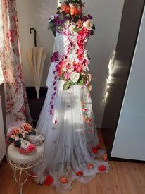 Spitze, Brautkleid, Blumen, Kunsthandwerk