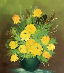 Ölmalerei, Blumen, Rose, Malerei