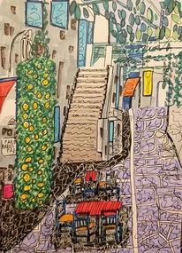 Stuhl, Architektur, Paros, Gasse