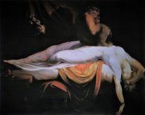 Kopie, Malerei marcel heinze, Johann heinrich füssli, Der nachtmahr