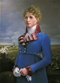 Portrait, Malerei marcel heinze, Preuße, Königin luise