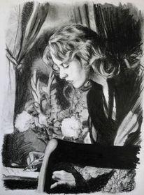 Zeichnung, Rose, Malerei marcel heinze, Zeichnungen