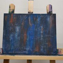 Abstrakt, Strukturpaste, Fliesstechnik, Acrylmalerei