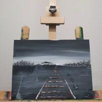 Sehnsucht, Acrylmalerei, Malkarton, Malerei