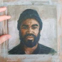 Mann, Malerei, Acrylmalerei, Menschen