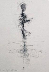 Bewegung, Schwarz, Menschen, Malerei