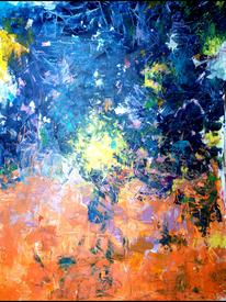 Wasser, Feuer, Sonne, Malerei