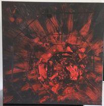 Modern art, Abstrakt, Rot, Malerei